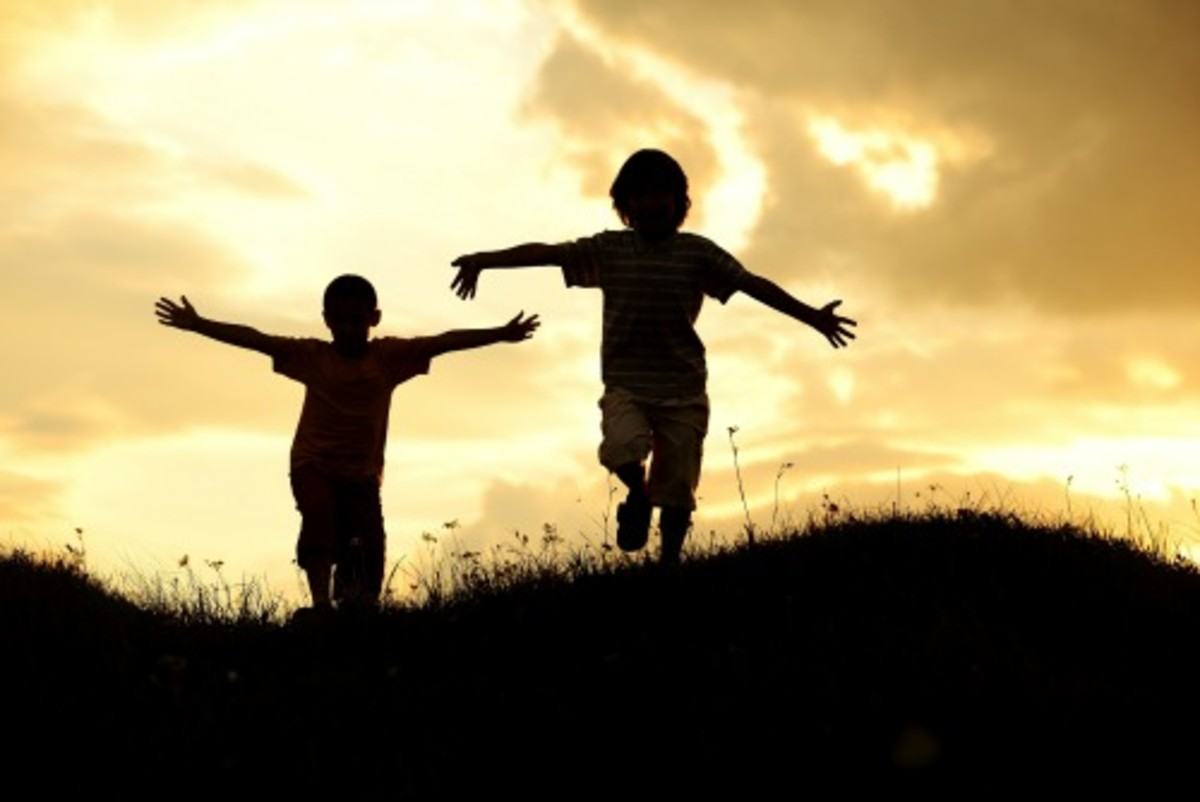 active-two-kids-spending-happy-time-on-summer-nature-2