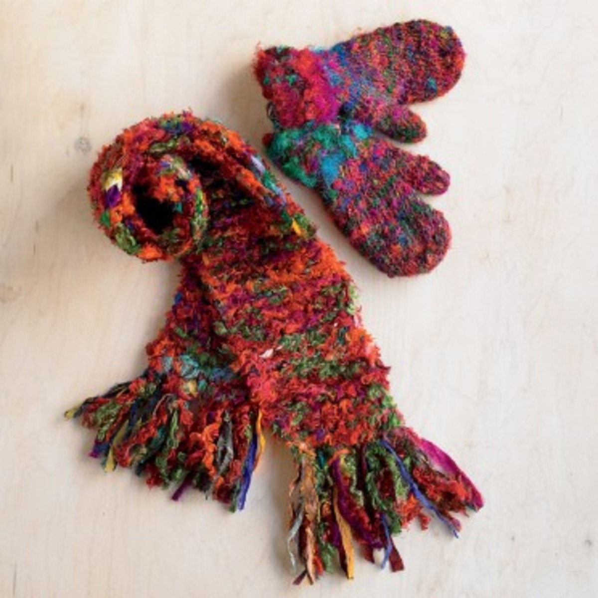 gift guide mail order Sari Ribbon Scarf and Mittens Viva Terra