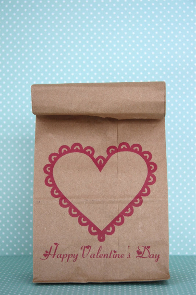 Valentine Lunch Bag Printable