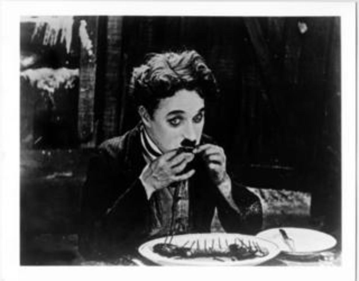 Charlie Chaplin Eating a Shoe The Gold Rush