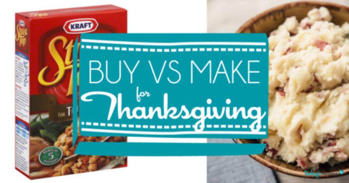 Thanksgiving Make VS Buy