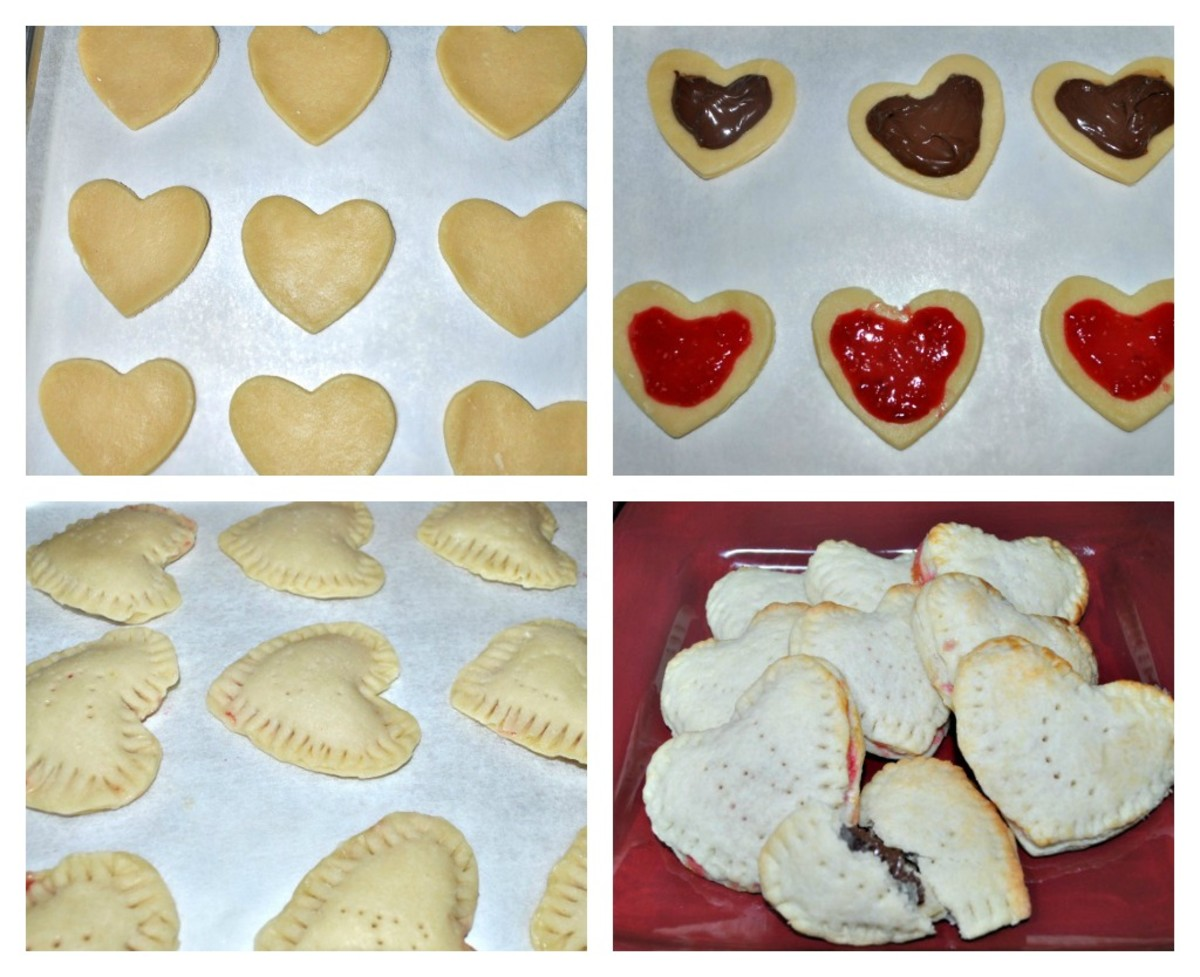 Assembling Homemade Pop Tart Hearts