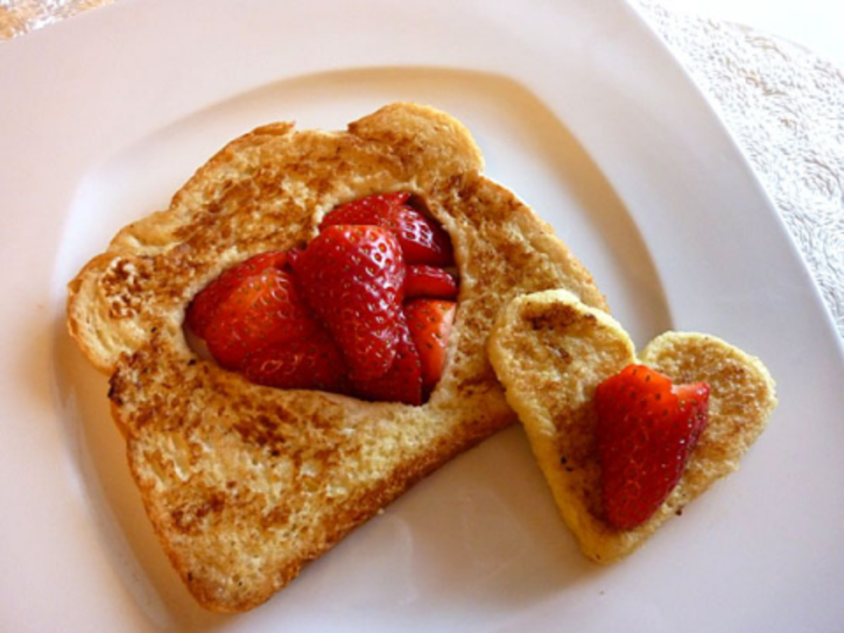 French Toast Cut out Hearts by ZiggityZoom