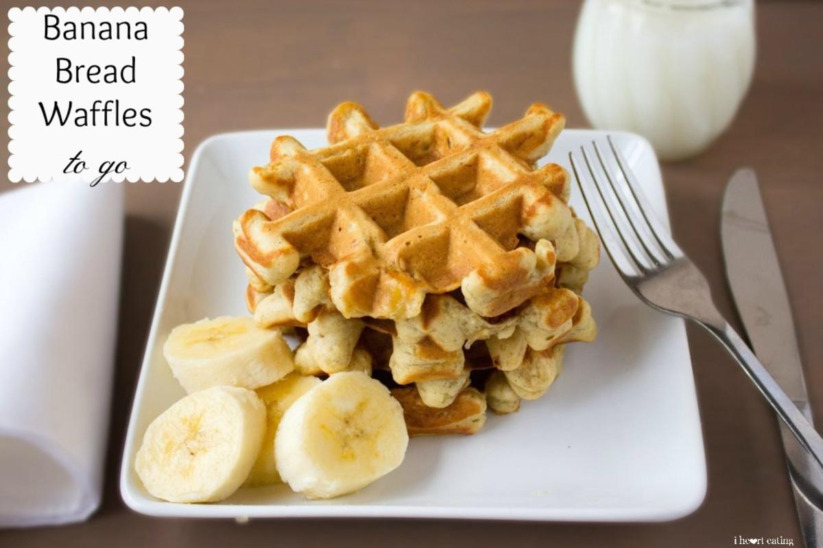 Banana Bread Waffles To Go | I Heart Eating