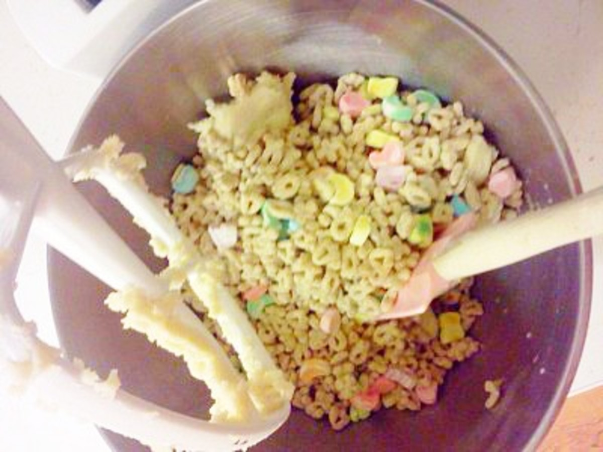 making lucky charms cookies
