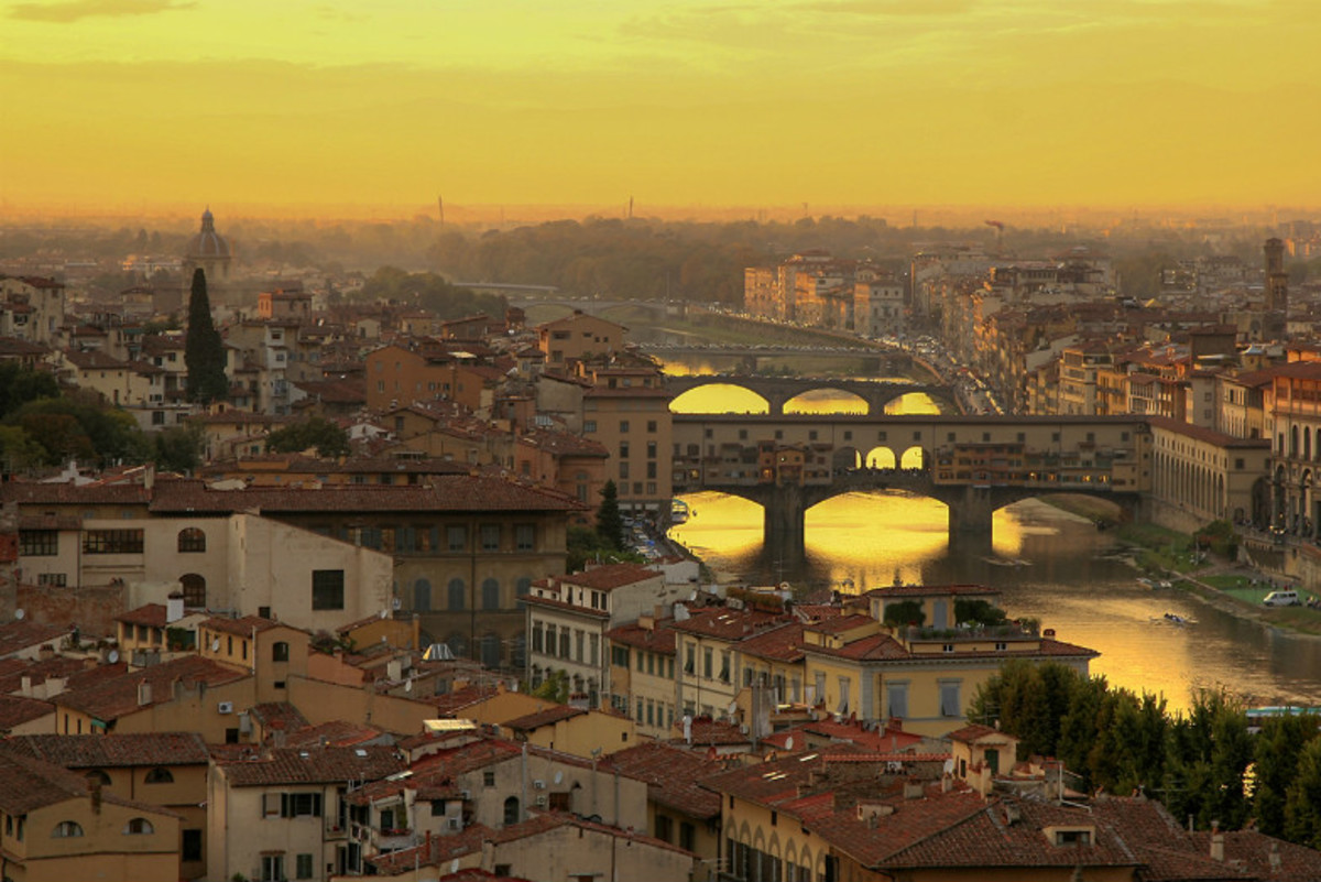 Sunset over Florence (Flickr: Steve)