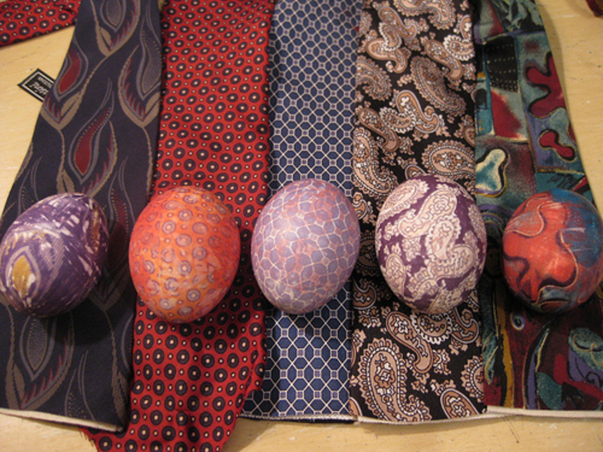 Silk Dye Easter Eggs