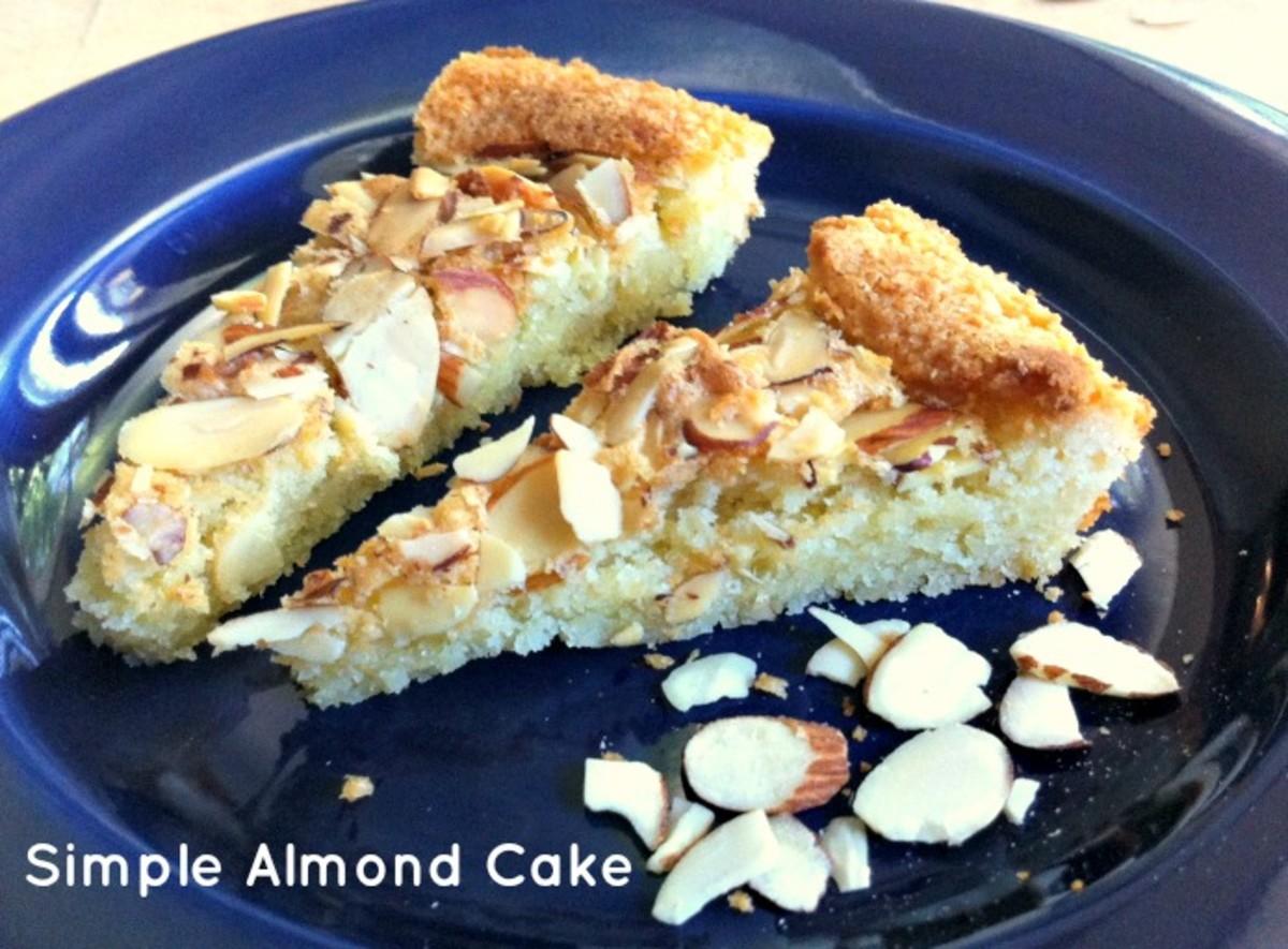 Simple Almond Cake Slice