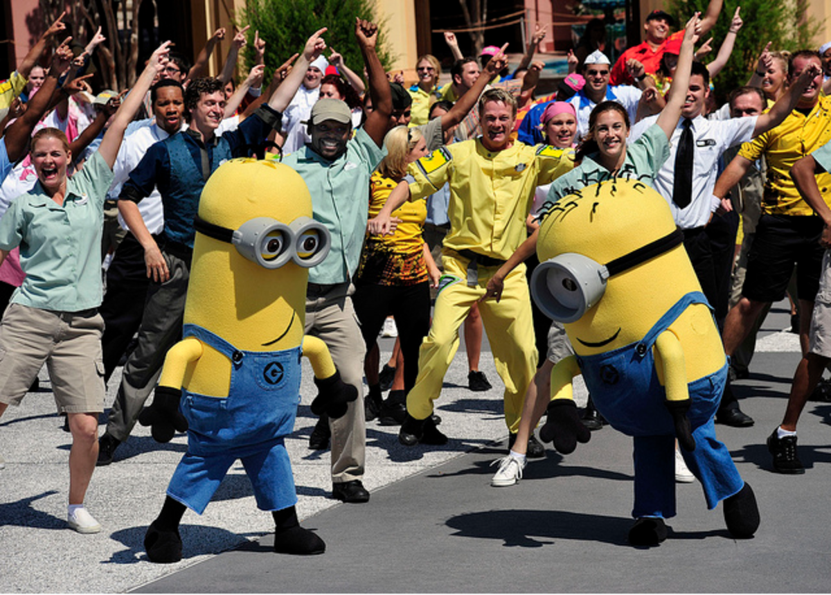 Despicable Me Flash Mob