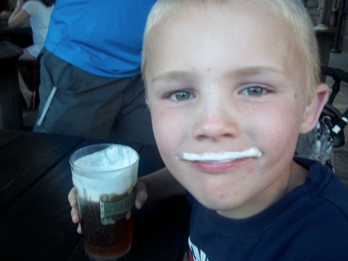 butterbeer at the Wizarding World of Harry Potter