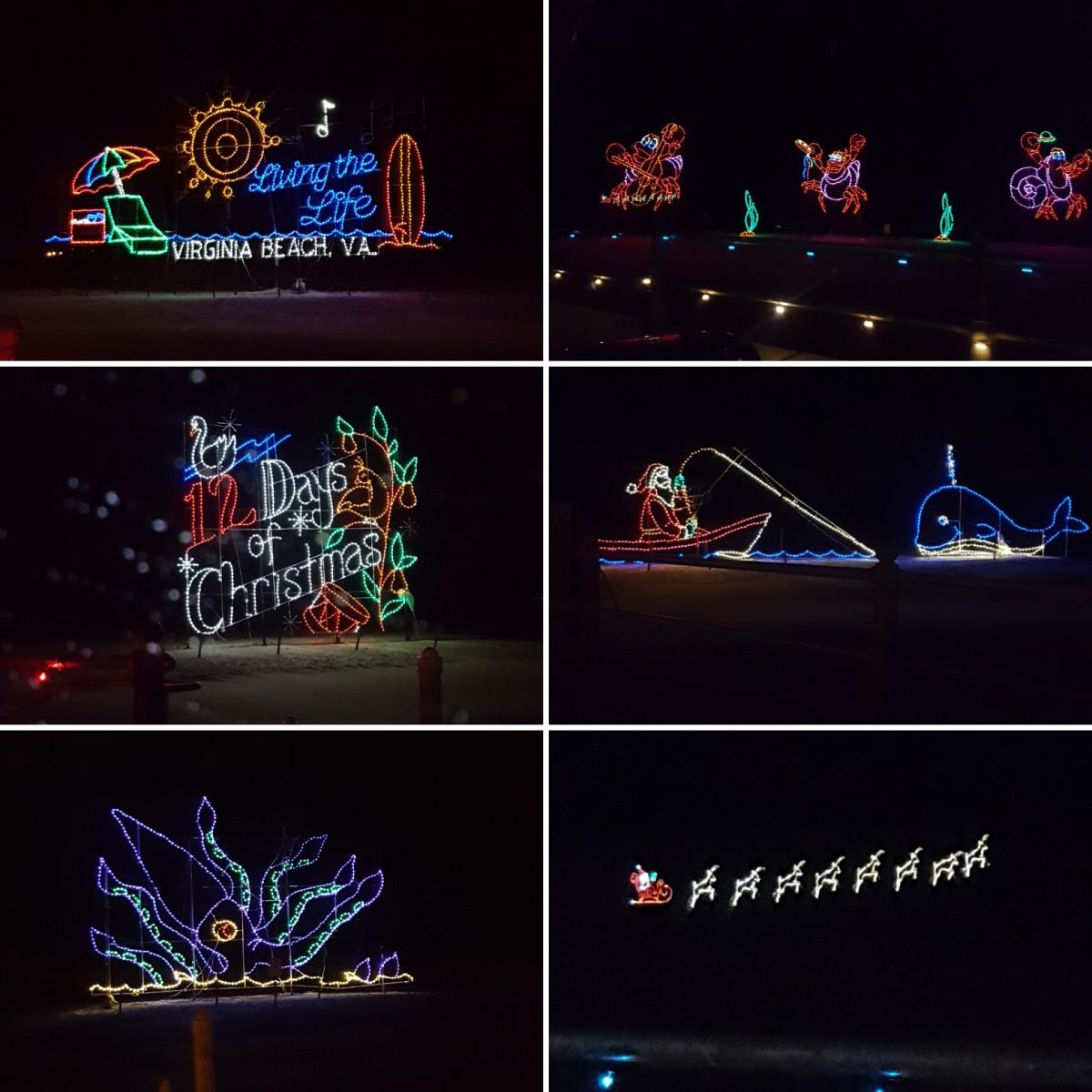 McDonald's Holiday Lights at the Beach, Virginia Beach