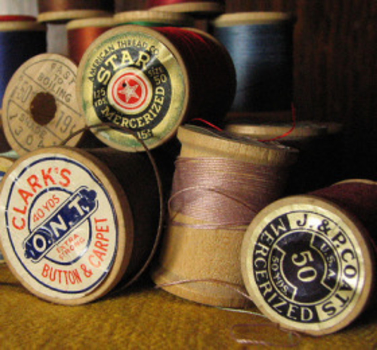 Wooden Spool of Thread