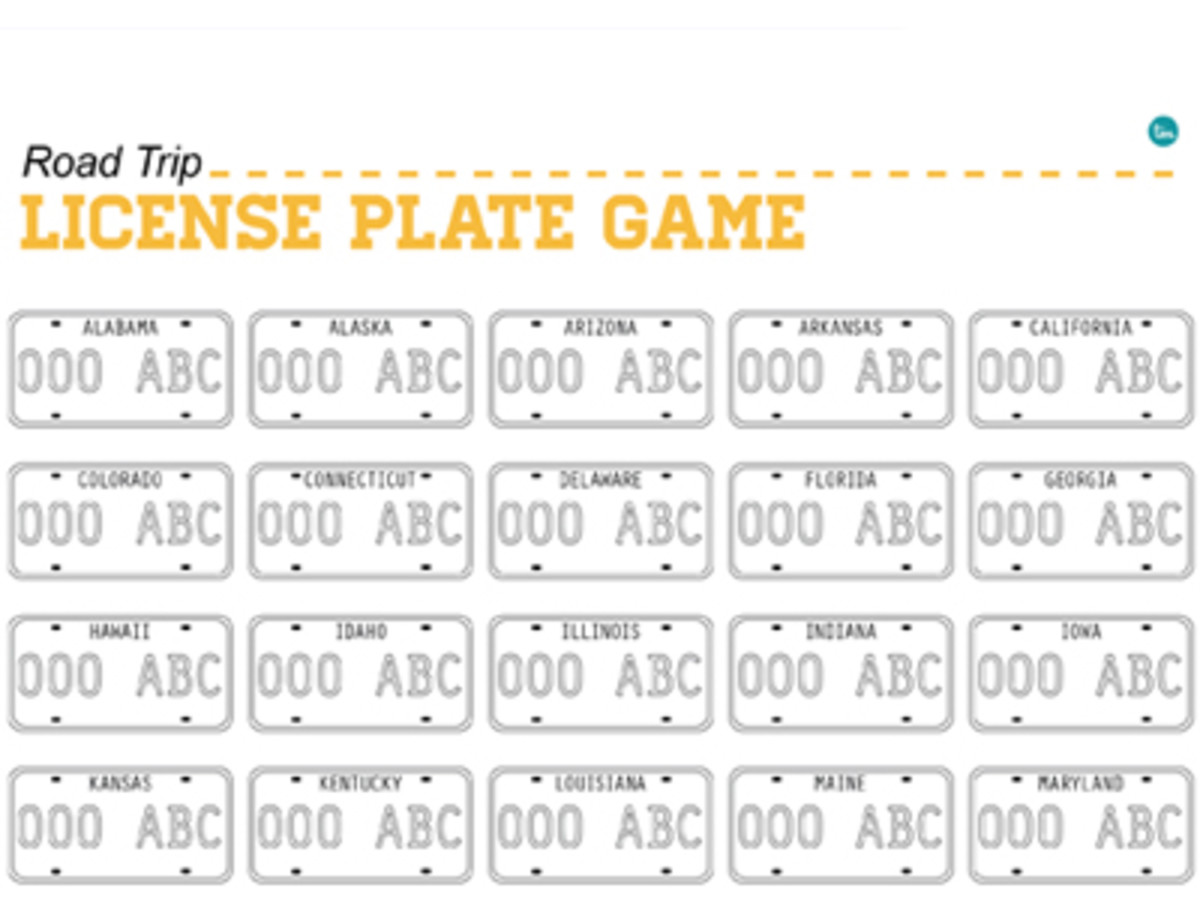photo about License Plate Game Printable named Printable License Plate Activity - Todays Mama