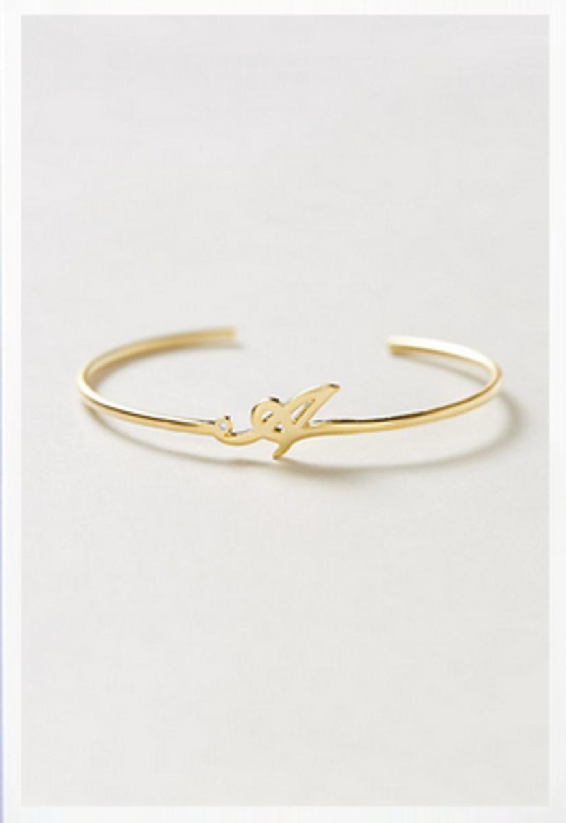 scripted monogram bracelet