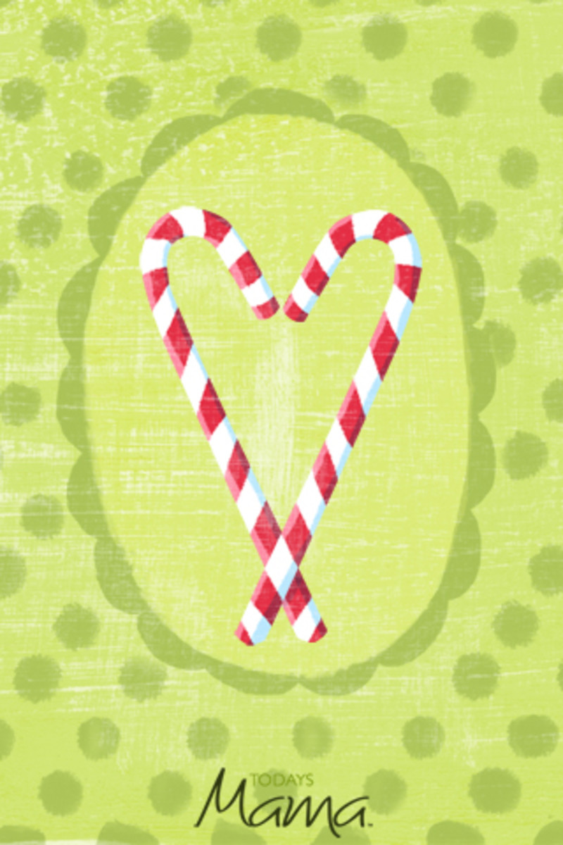 smartphone wallpaper christmas candycanes_phone