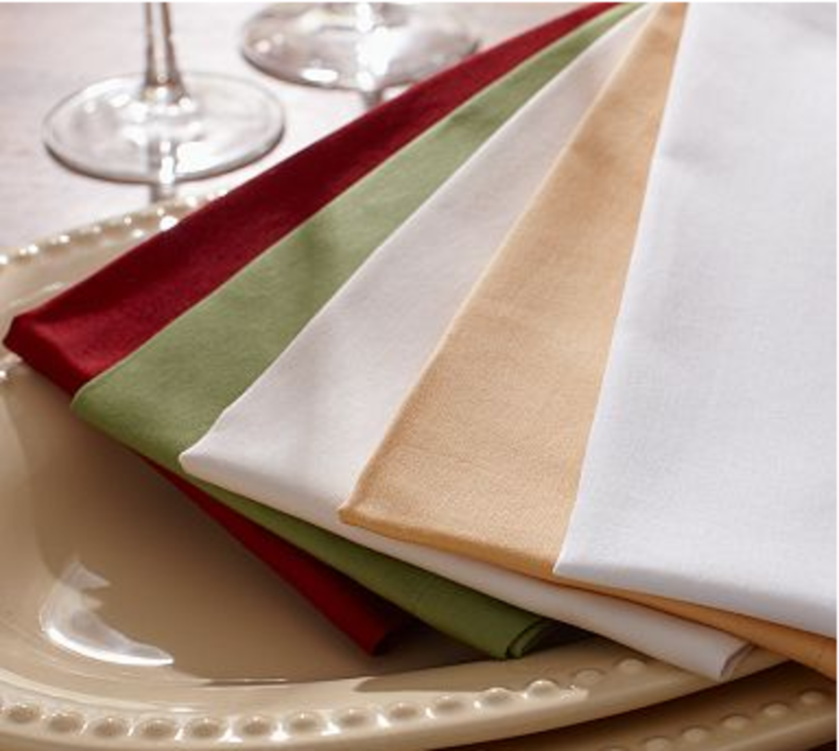 colorful napkins used as place settings