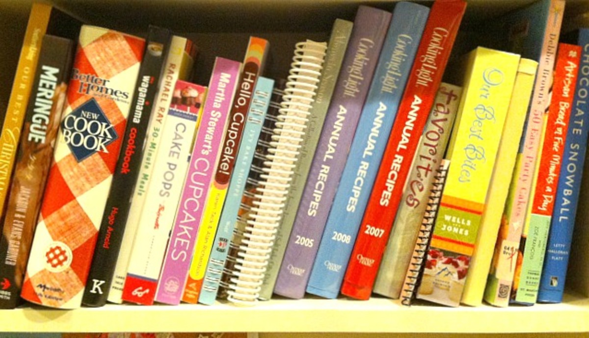My Shelf of Favorite Cookbooks