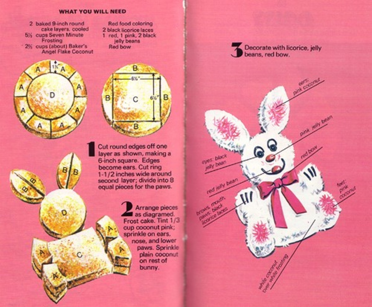 Cut Up Cake Book Example Easter Bunny Cake