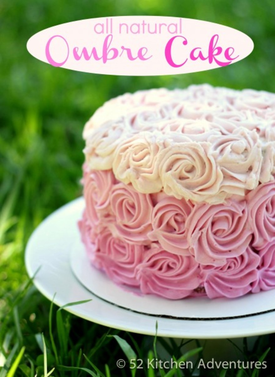 All Natural Ombre Cake | 52 Kitchen Adventures