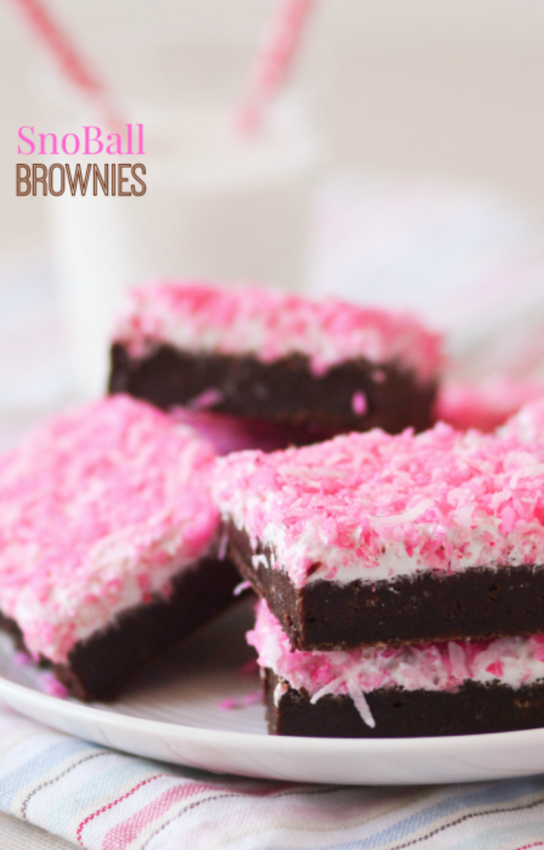 Homemade Snoball Brownies Recipe