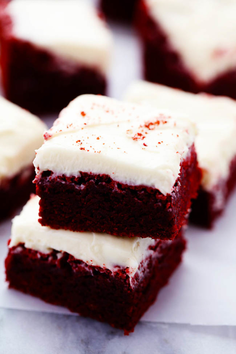 Red Velvet Homemade Brownies