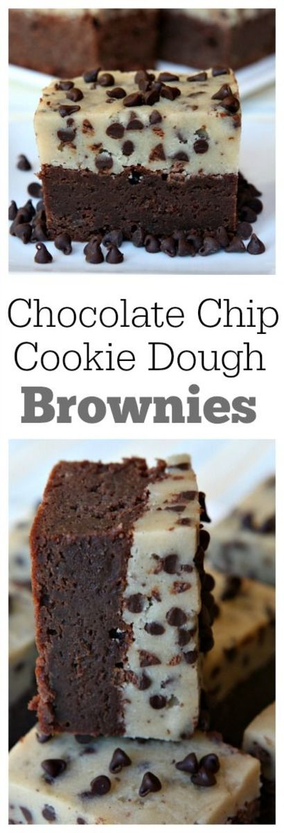 Chocolate Chip Cookie Dough Brownies From Recipe Girl