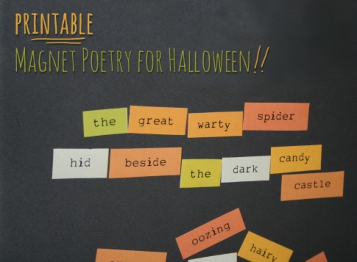 free printable halloween magnet poetry preview
