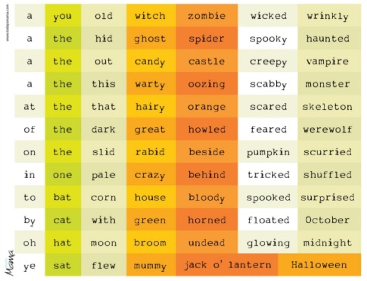 free printable halloween magnet poetry