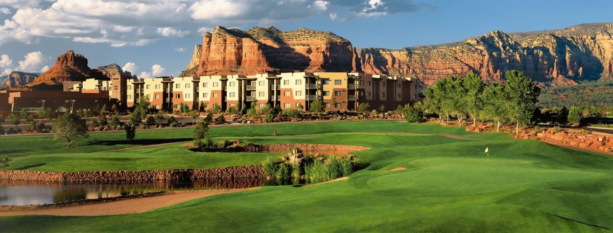 Sedona Doubletree ResortView from Sedona Golf Resort#18 green