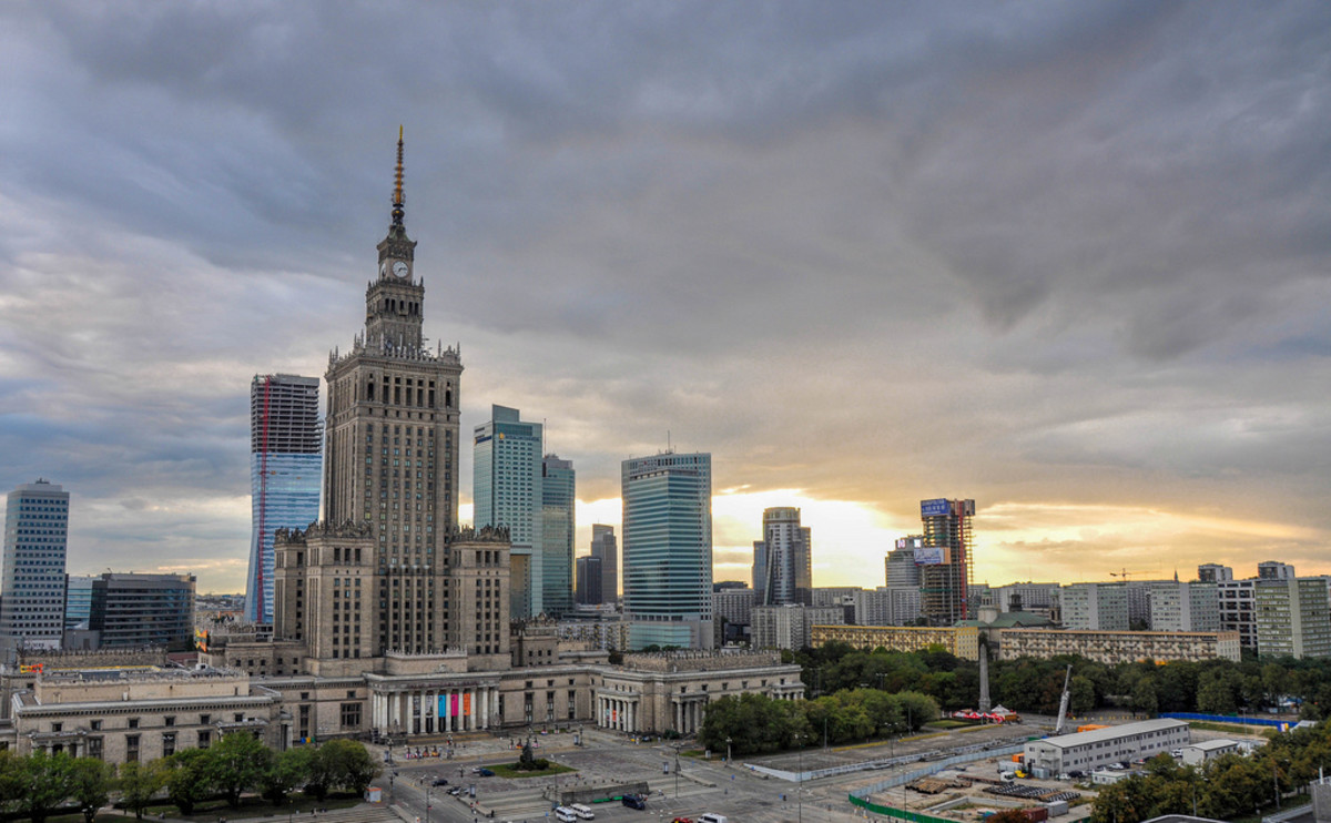 The Palace of Culture and Science in Warsaw is the tallest building in Poland. (Flickr: Jorge Lascar)