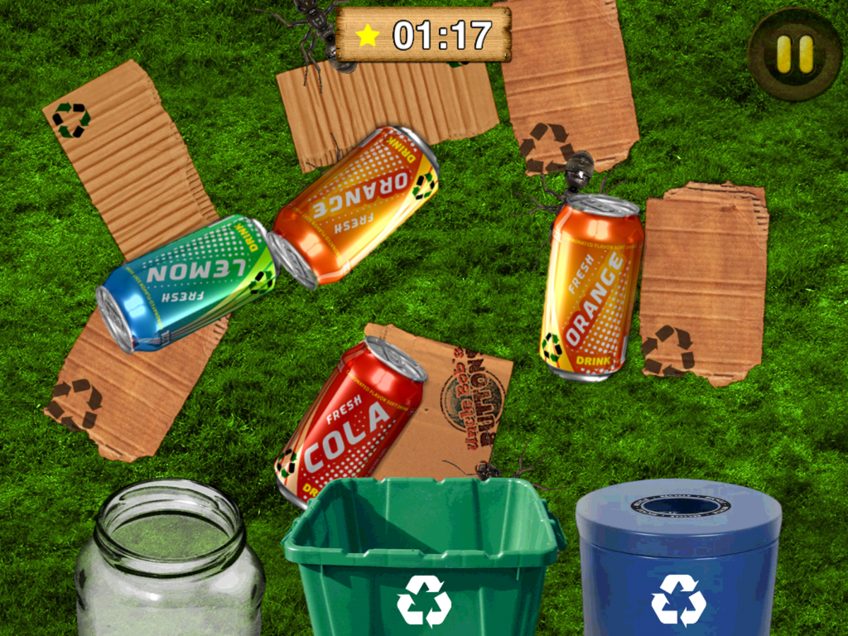 Bugs and Buttons Recycling Sorting Game