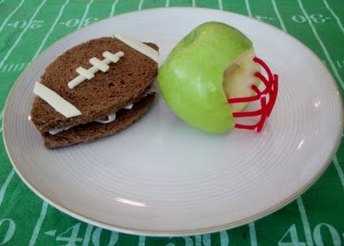 Yup.  Shaped like a football, and a helmet.  My husband would not make this.