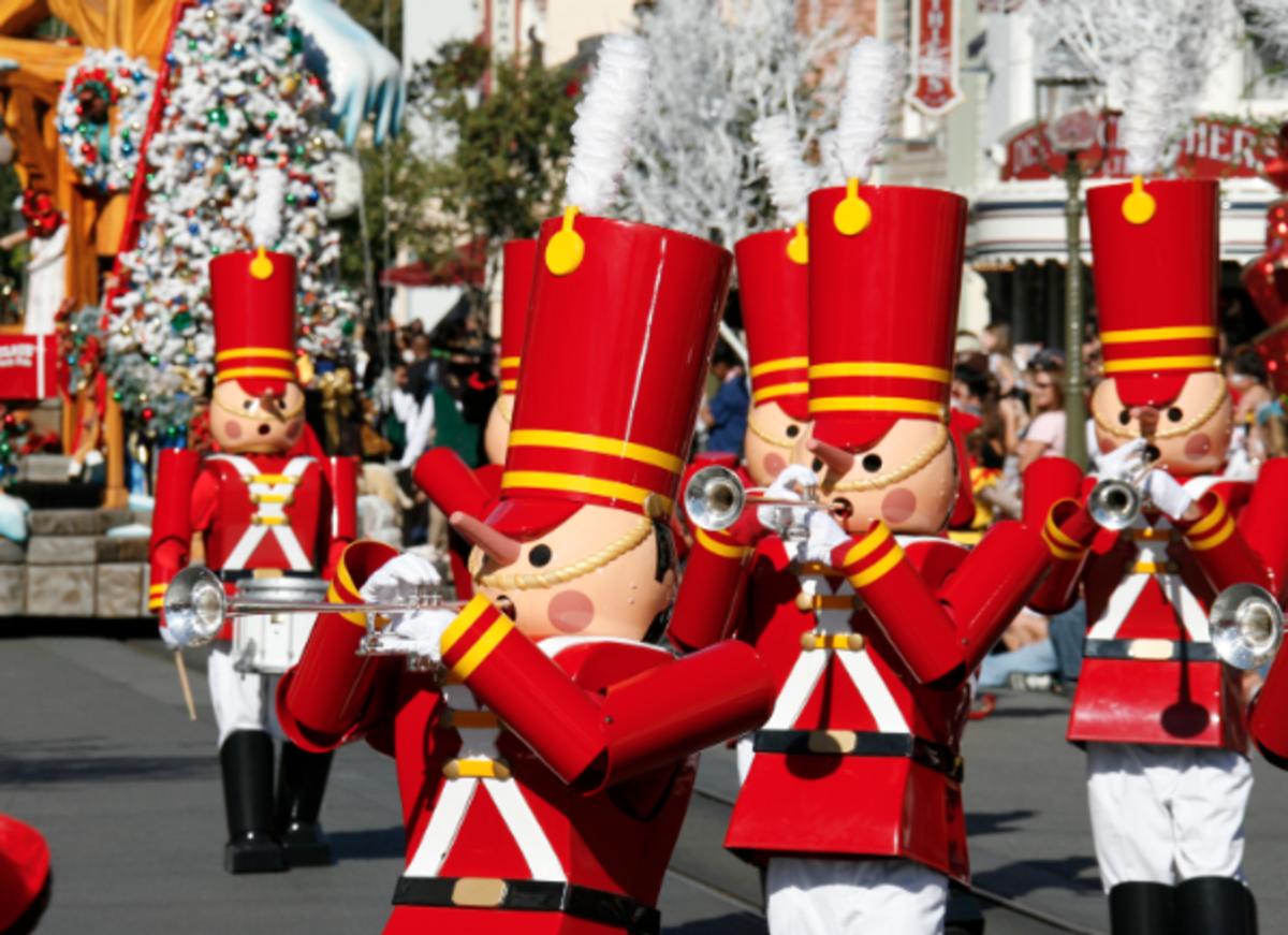 Christmas Parade on Main Street at Disneyland