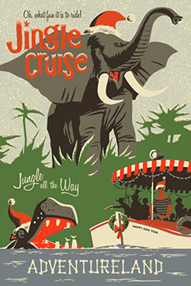 The Jungle Cruise has turned Jingle Cruise for Christmas at Disneyland