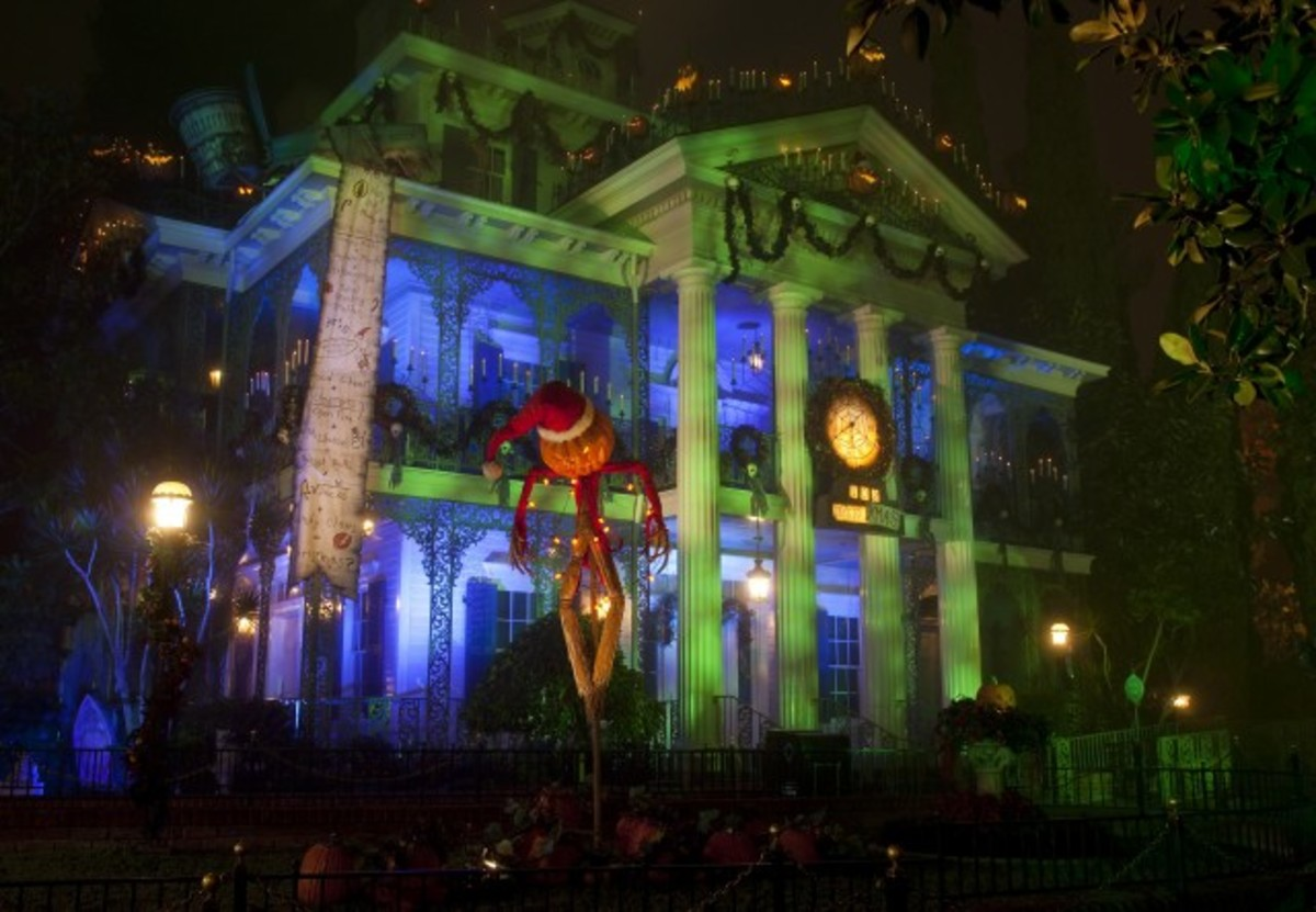 The Nightmare Before Christmas Haunted Mansion at Disneyland