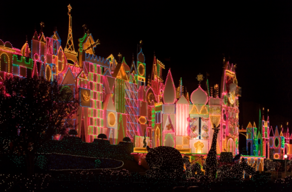 Small World with 50,000 lights at Disneyland