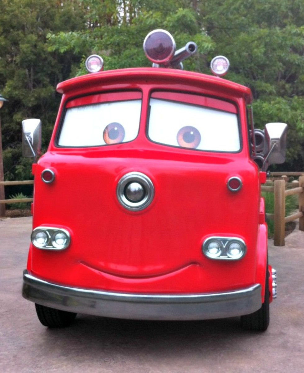 Red the Firetruck Cars Land
