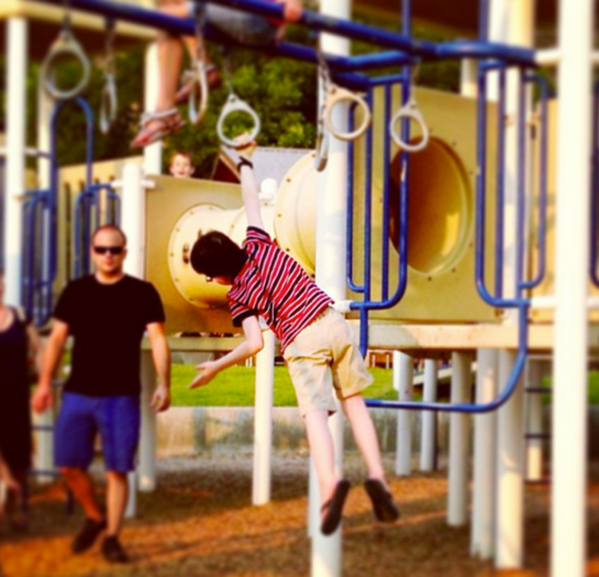 play at playground