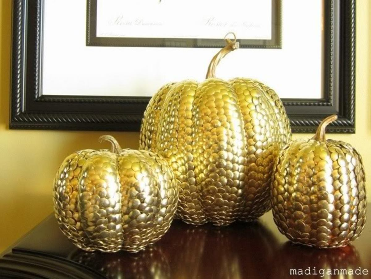 brass thumbtack metal pumpkins