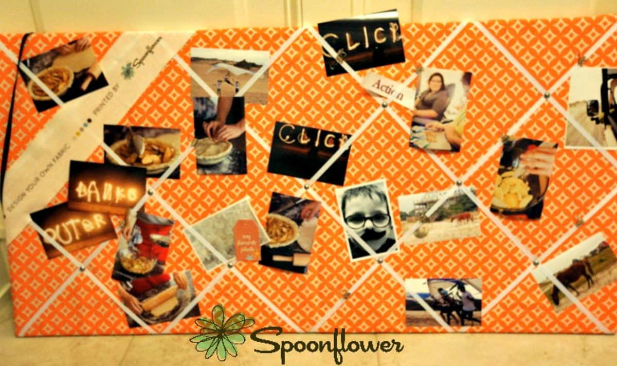 Giant Fabric Board with Spoonflower Fabric