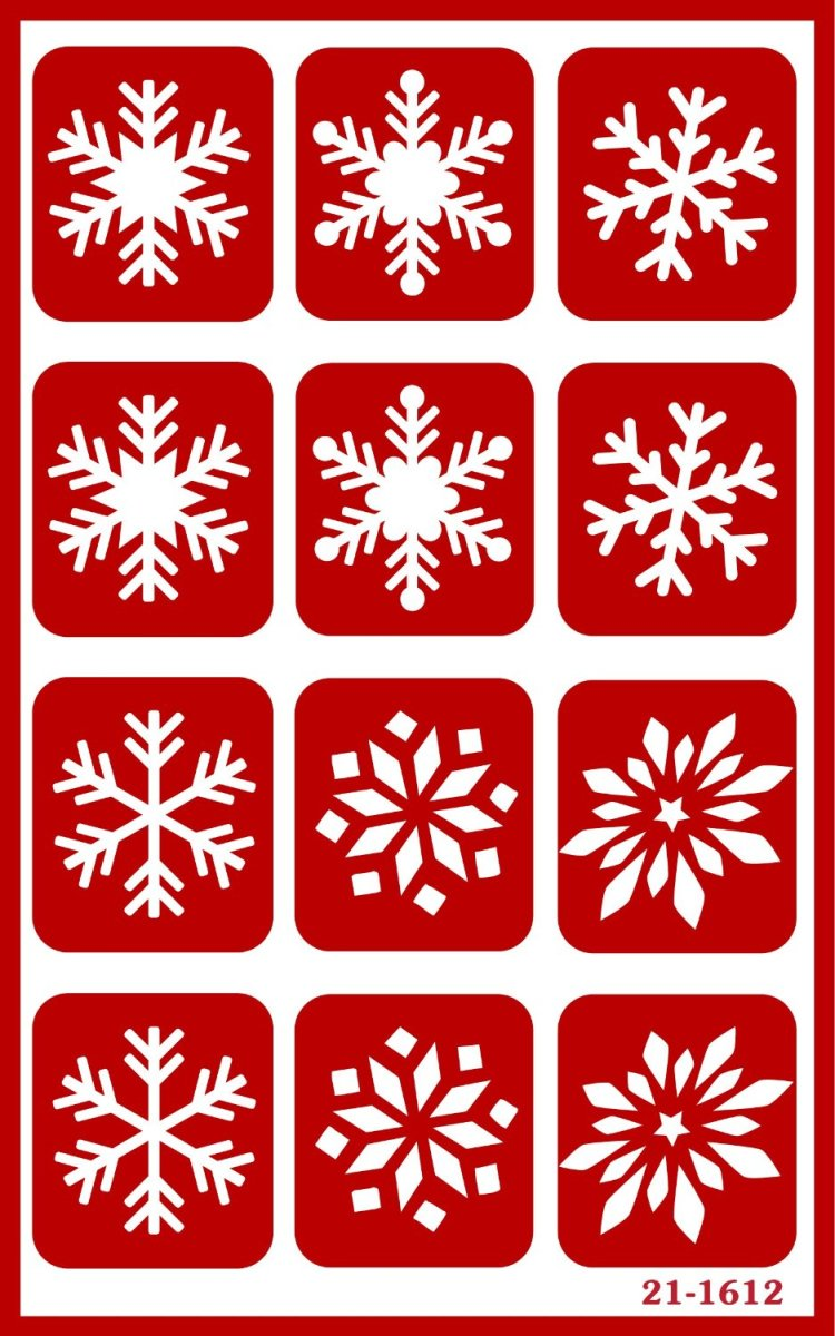 Snowflake Stencils for Etching Glasses - TodaysMama.com