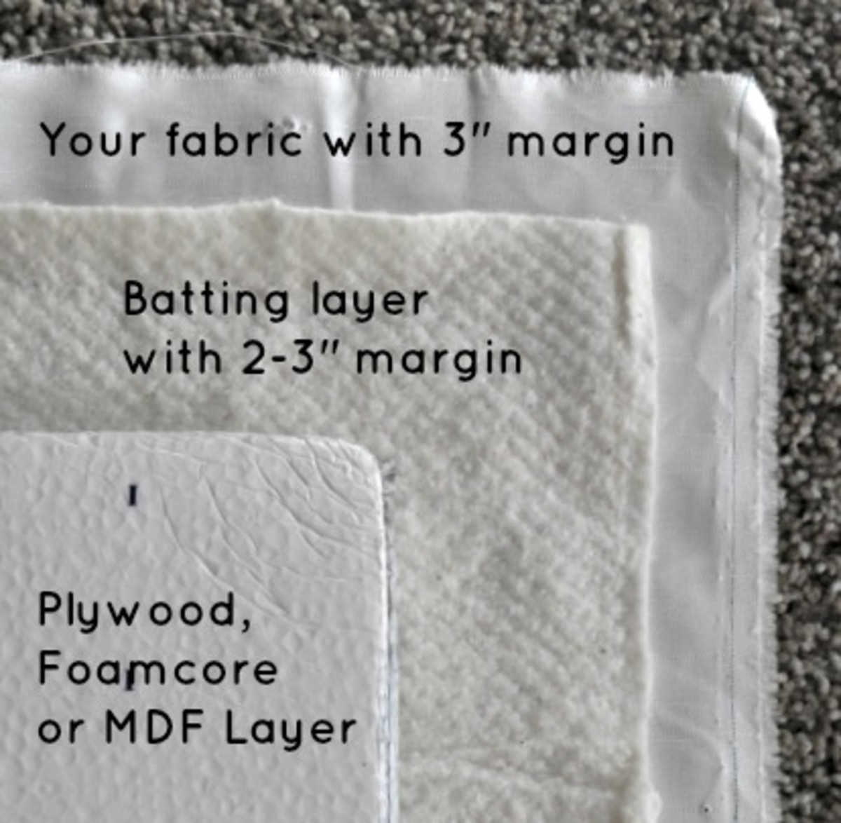 Giant Fabric Board - Layering with Margins - TodaysMama.com