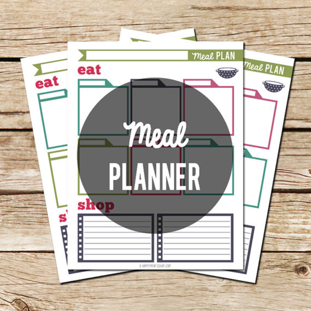 Happy Print Ship Meal Planner Printable - TodaysMama.com