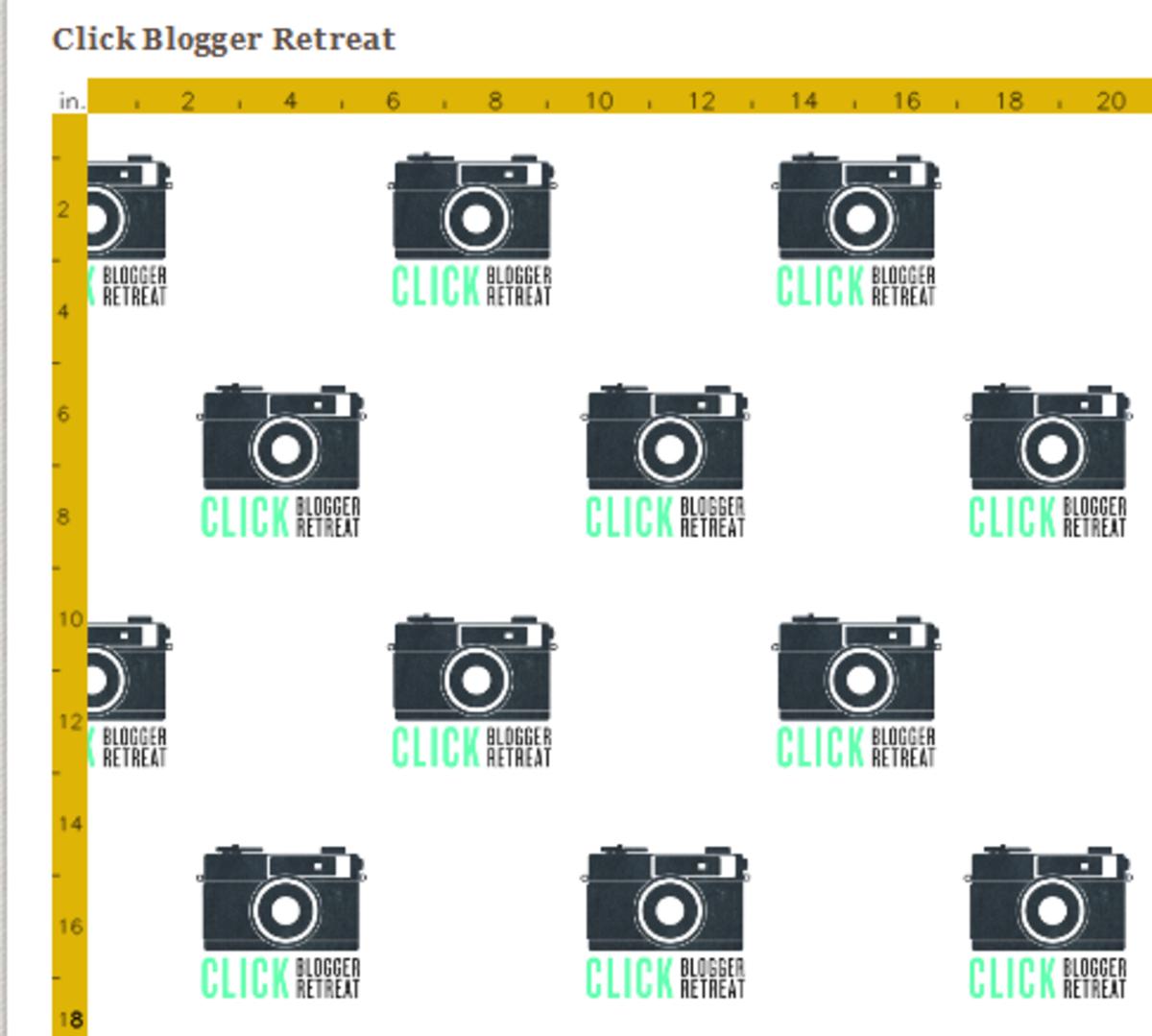 Click Retreat Custom Fabric on Spoonflower