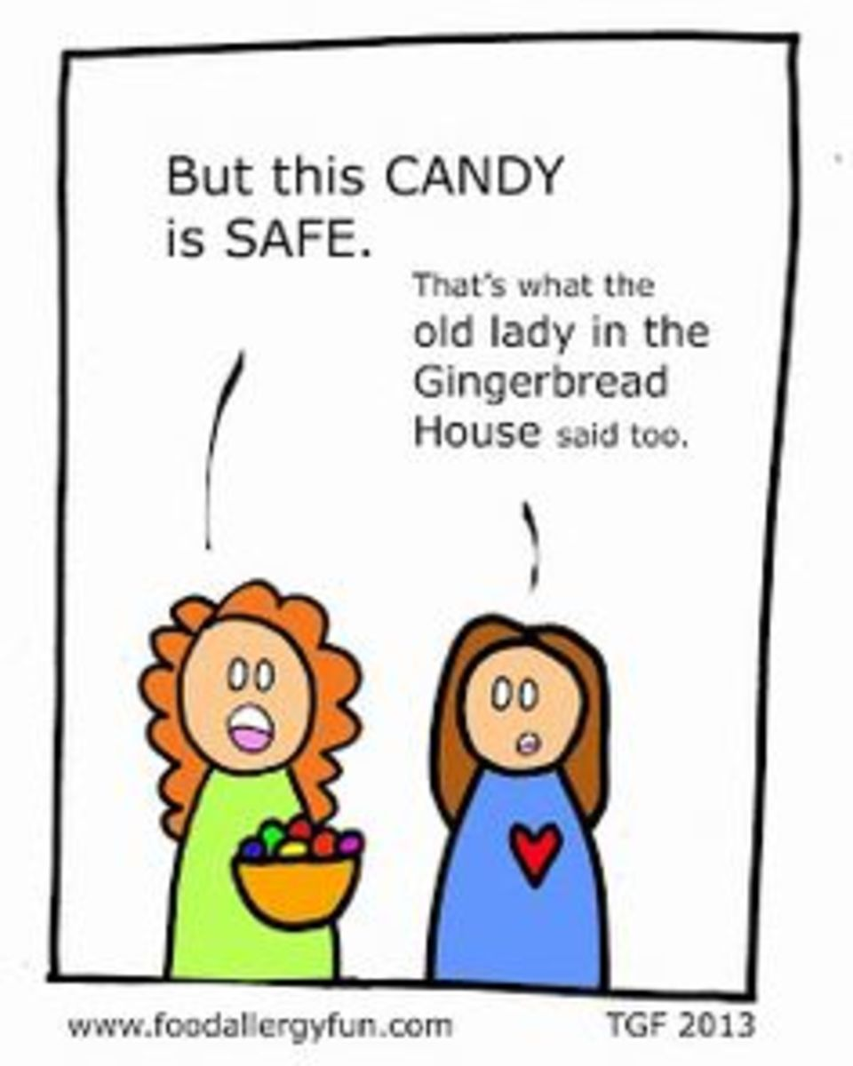 Candy Free Food Allergy Memes for Halloween