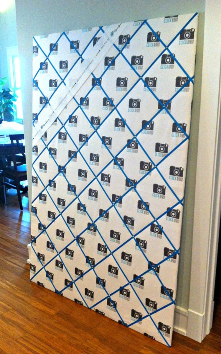 Giant Fabric Ribbon Boards with Custom-Printed Spoonflower Fabric