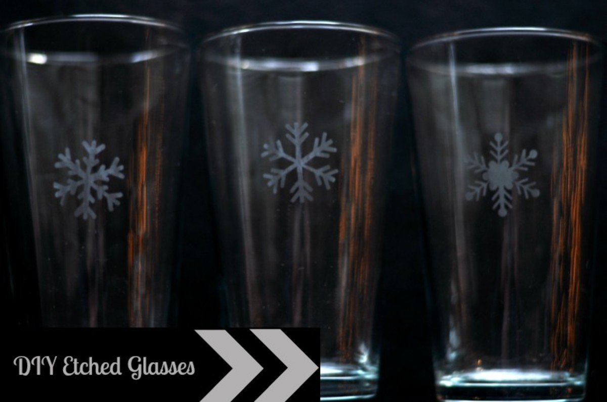 DIY Etched Glasses Tutorial - TodaysMama.com