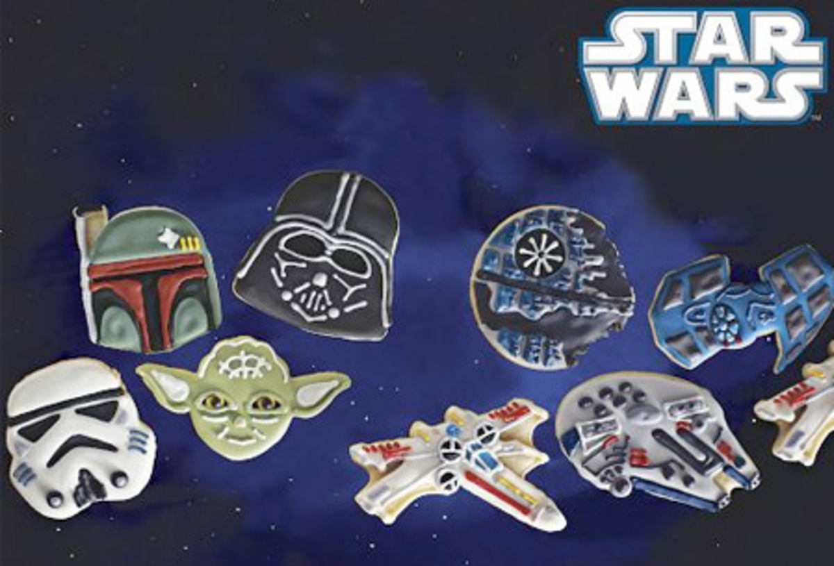 Star Wars Heroes and Villains Cookie Cutters in Space