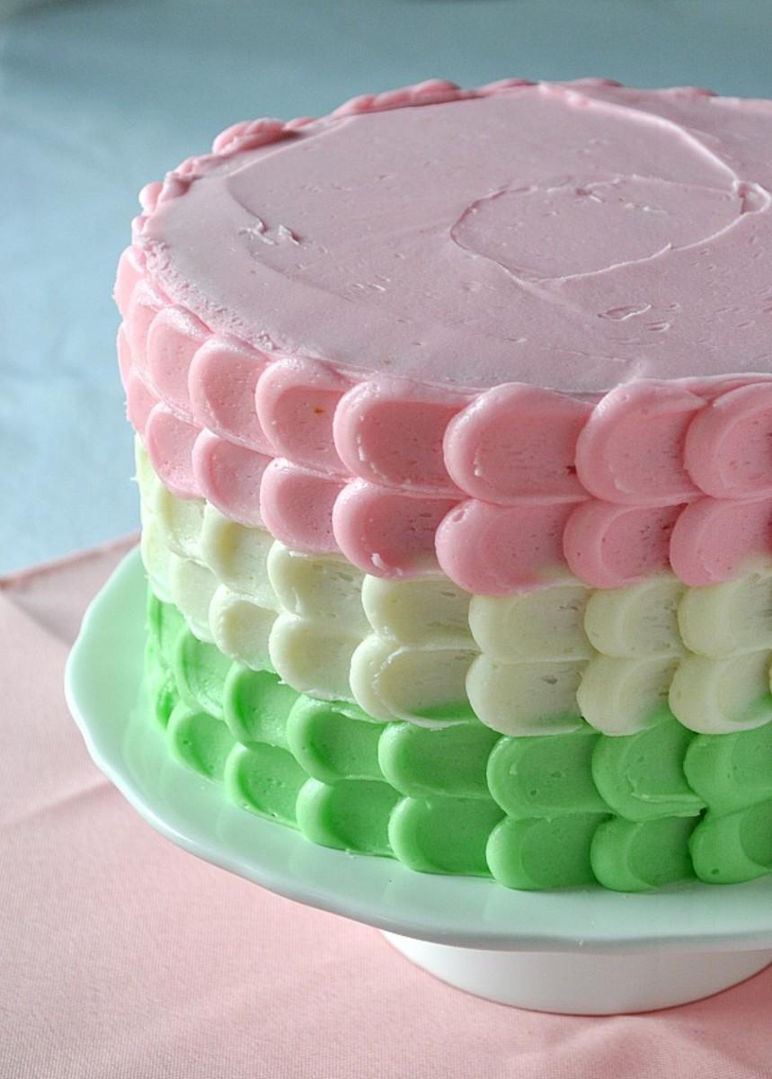 Vanilla Petal Cake Top