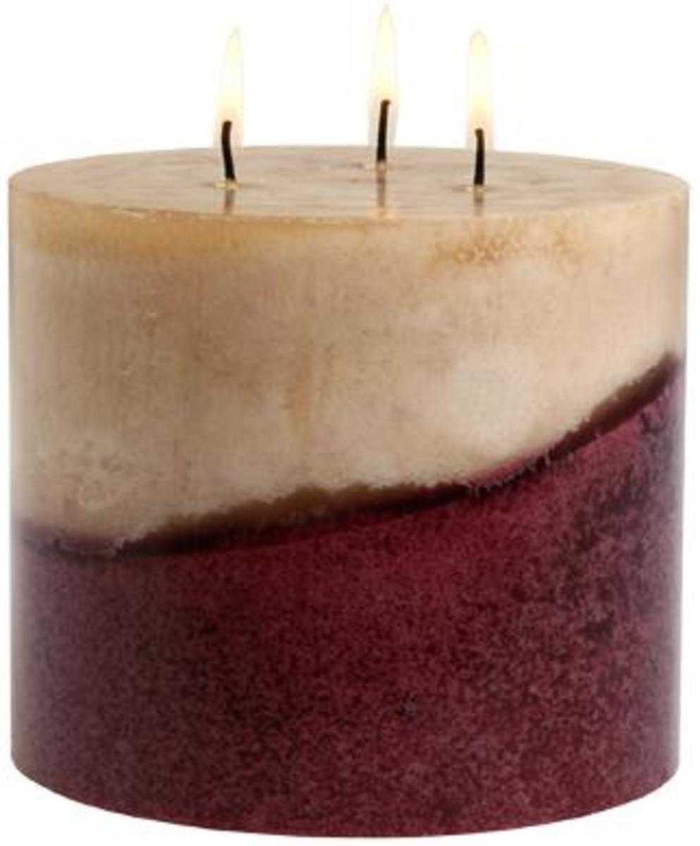 3 wick pillar candle